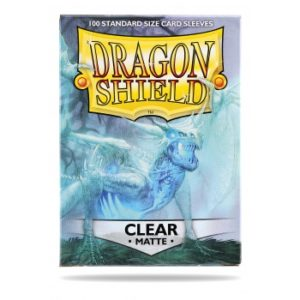 Dragon Shield Standard Sleeves – Matte Clear (100 Sleeves)