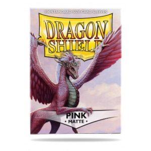 Dragon Shield Standard Sleeves – Matte Pink (100 Sleeves)