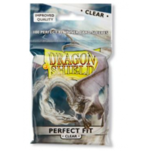 Dragon Shield Standard Perfect Fit Sleeves – Clear/Clear (100 Sleeves)
