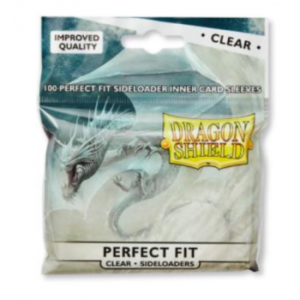 Dragon Shield Standard Perfect Fit Sideloading Sleeves – Clear/Clear (100 Sleeves)