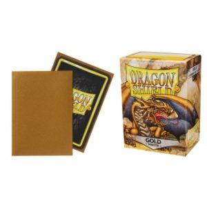Dragon Shield Standard Sleeves – Matte Gold (100 Sleeves)