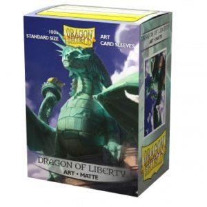 Dragon Shield Matte Art Sleeves – Dragon of Liberty (100 Sleeves)