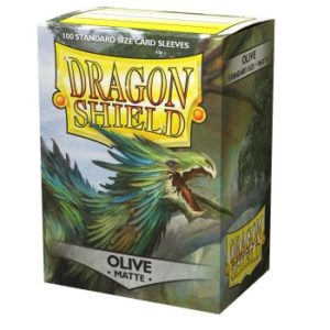 Dragon Shield Standard Sleeves – Matte Olive (100 Sleeves)