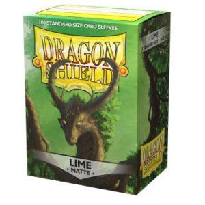 Dragon Shield Standard Sleeves – Matte Lime (100 Sleeves)