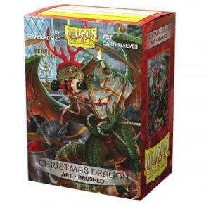 Dragon Shield Brushed Art Sleeves – Christmas Dragon 2020 (100 Sleeves)