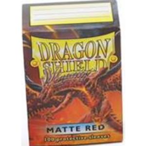 Dragon Shield Standard Sleeves – Matte Red (100 Sleeves)