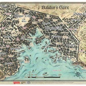 D&D: 17″ X 23″ Vinyl Game Mat – Baldur's Gate