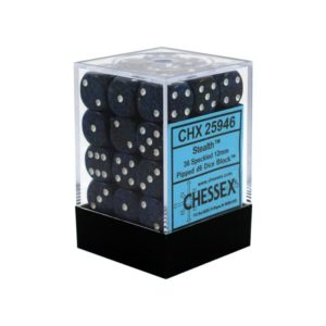 Speckeled Stealth 12mm d6 Dice Block (36 Dice)
