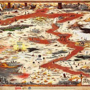 D&D: 17″ X 23″ Vinyl Game Mat – Avernus