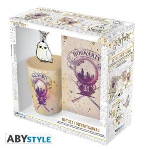 "Harry Potter – Pck Mug250ml – KeyringPVC + Notebook ""Hogwarts"""