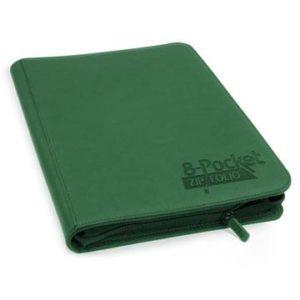 8-Pocket QuadRow ZipFolio XenoSkin™ Green