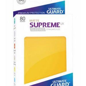 Ultimate Guard Supreme UX Sleeves Standardgröße Matt Gelb (80)