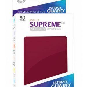 Ultimate Guard Supreme UX Sleeves Standardgröße Matt Burgundrot (80)